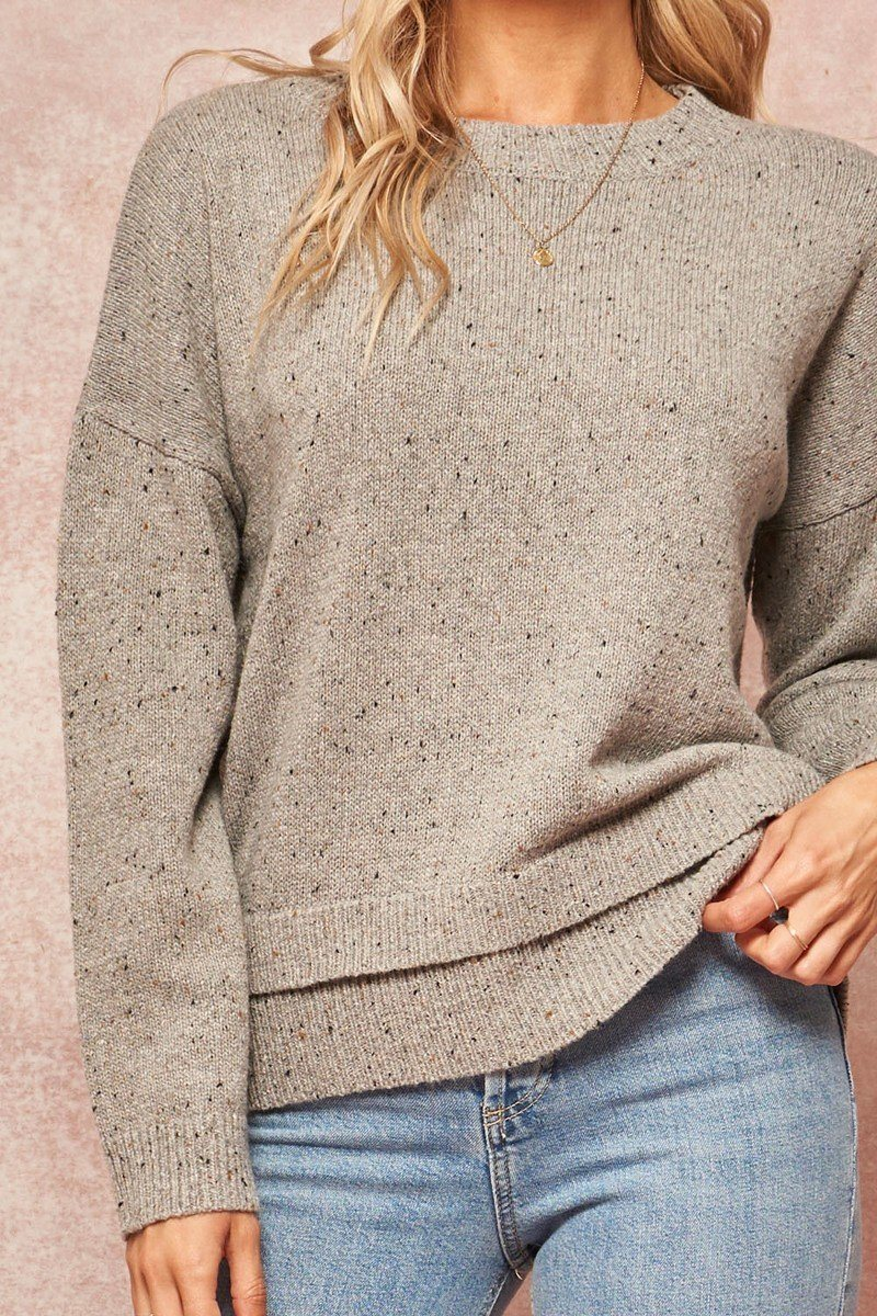 A Multicolor Knit Sweater