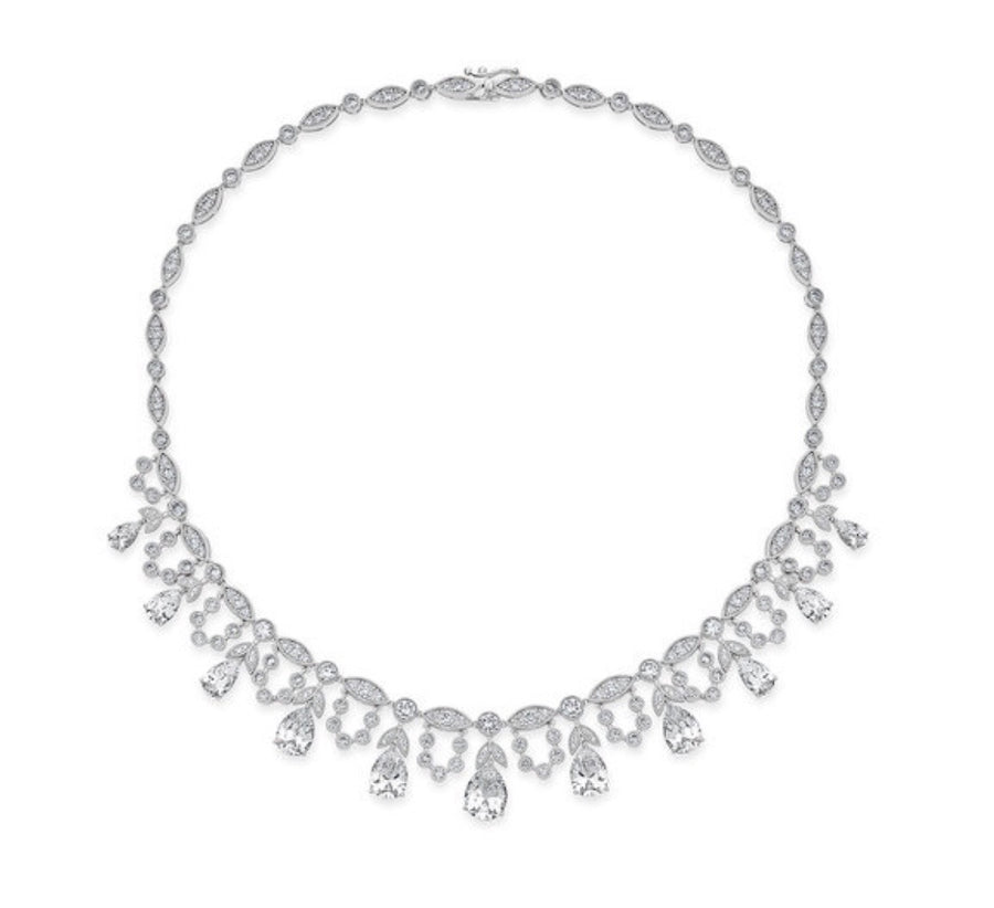 Grace Pear Statement Necklace - Modern Choices