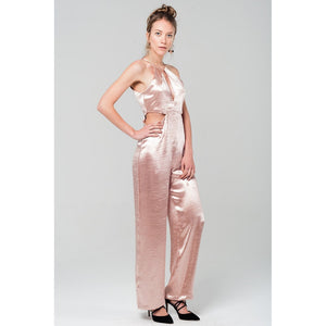 Metallic pink jumpsuit - Modern Choices