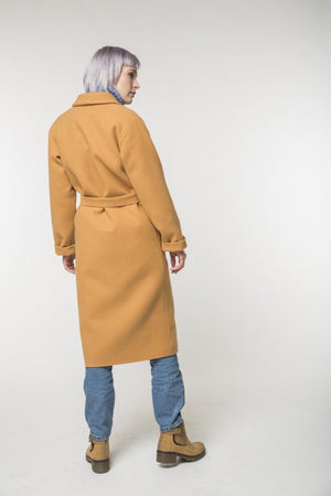 Long camel coat / Spring - autumn / Women's coat / Collection 2018 by REVALU