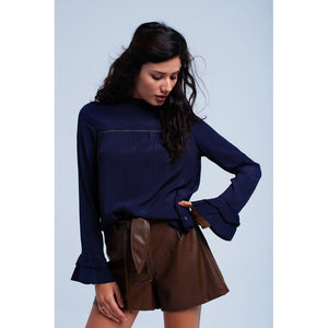 Flowing navy blouse - Modern Choices