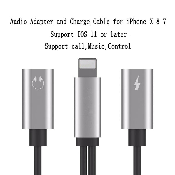 2 in 1 Earphone & Lightning Adapter for iPhone 7 | 7Plus