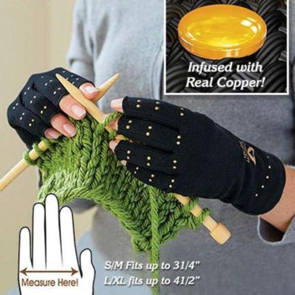 Compression Therapy Active Gloves - Copper Hands