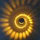 Luminous LED Spiral Light Fixture