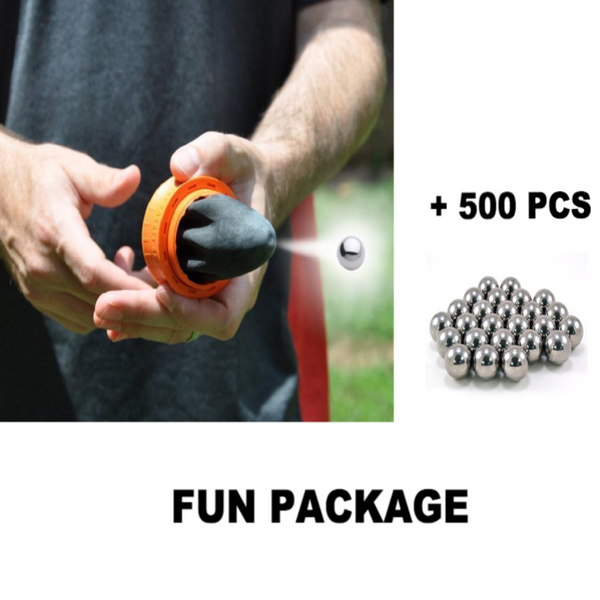 Fun Pack : Pocket Shot Catapult + 500 Pcs Steel Balls