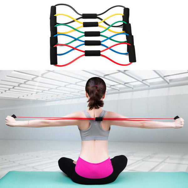Chest Developer Resistance Bands - Yoga, Pilates & Fitness Exercises