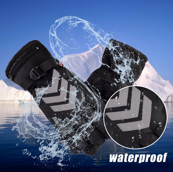 Electric Heated Waterproof Ski Gloves