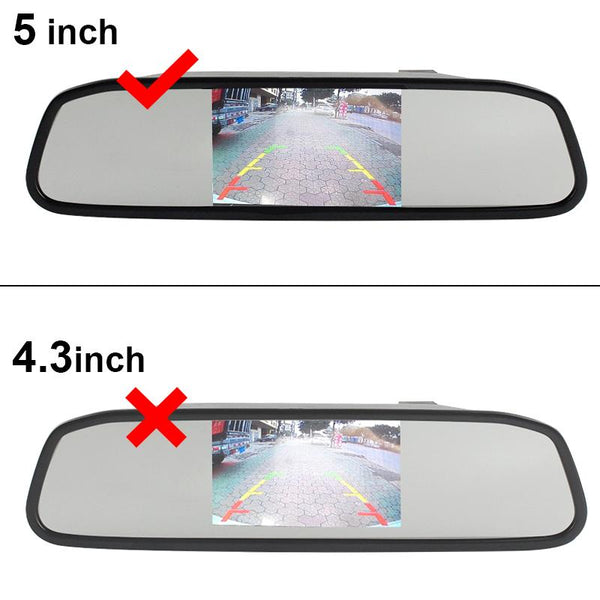 5 inch Color TFT LCD Car Rear View Mirror Monitor - Parking Backup Camera
