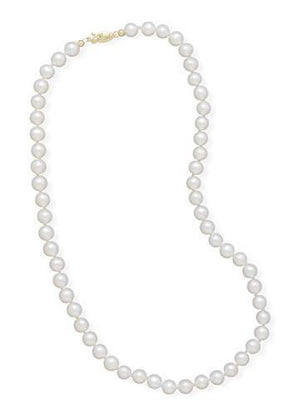 "16"" 5.5-6mm Cultured Freshwater Pearl Necklace"