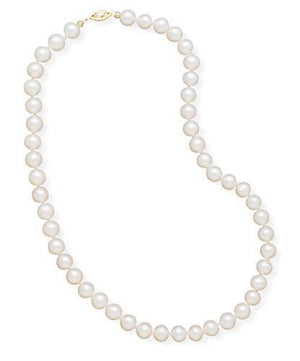 "18"" 7.5-8mm Cultured Freshwater Pearl Necklace"