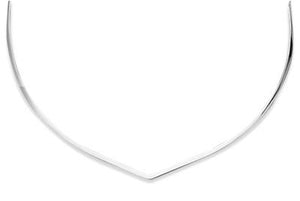 "18"" 2mm ""V"" Collar with Closed Back"