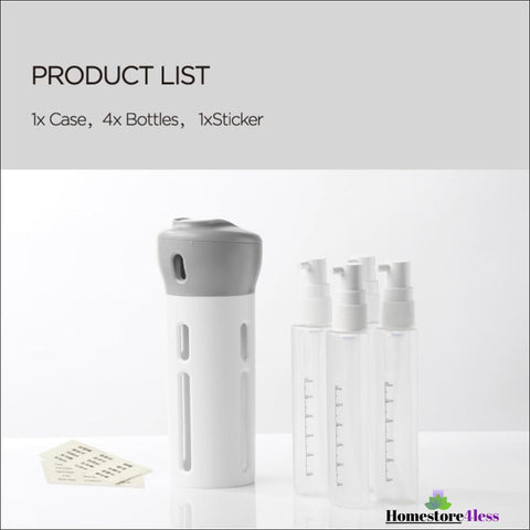 Image of 4 In 1 Portable Travel Bottle