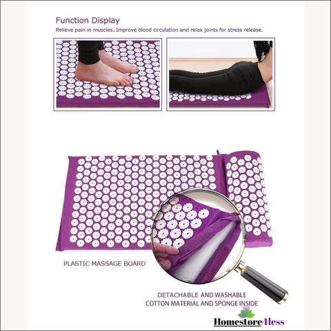 Image of Acupressure Mat And Pillow Set