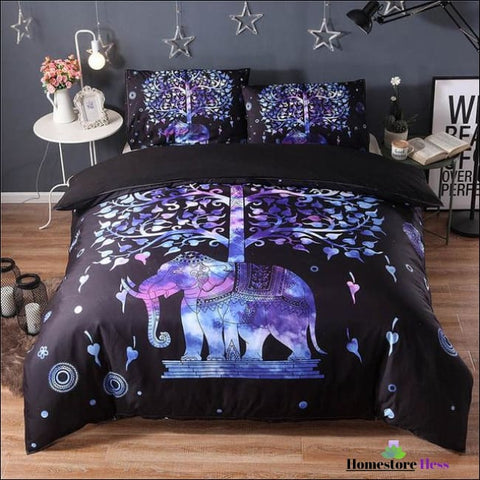 Bohemian Elephant Mandala Bed Sets - 4 / Us Queen