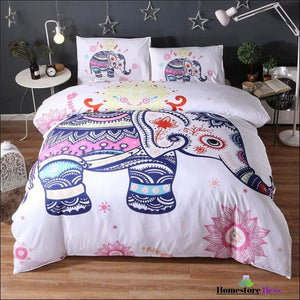 Bohemian Elephant Mandala Bed Sets