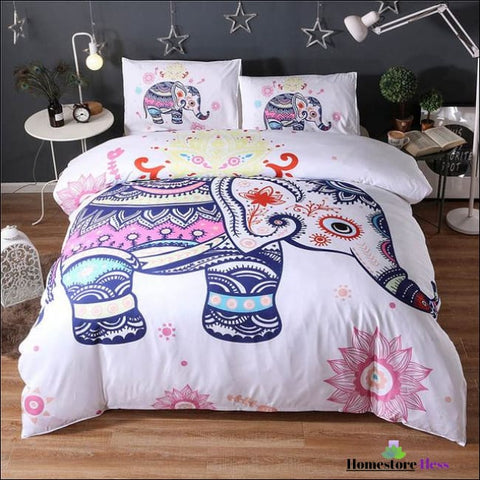 Bohemian Elephant Mandala Bed Sets - 6 / Us Queen