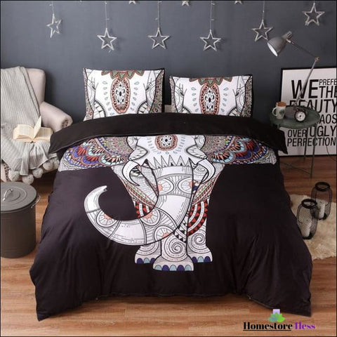 Bohemian Elephant Mandala Bed Sets - 7 / Us Queen