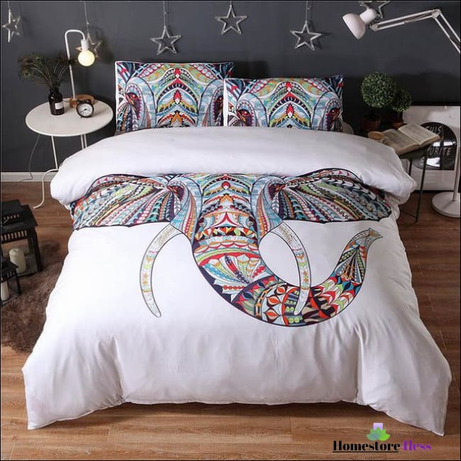 Bohemian Elephant Mandala Bed Sets - 8 / Us Queen
