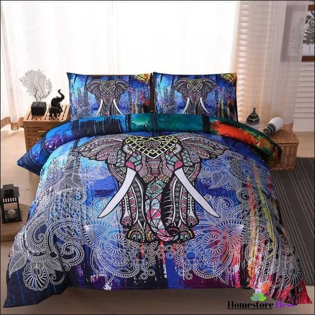 Bohemian Elephant Mandala Bed Sets - 9 / Us Queen