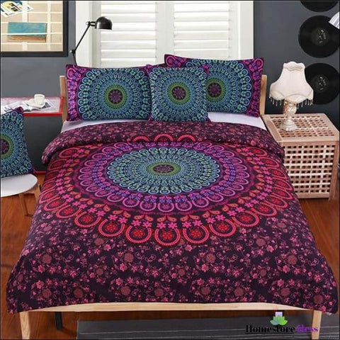 Mandala Bohemian  4pc Bedding Set - Homestore4less