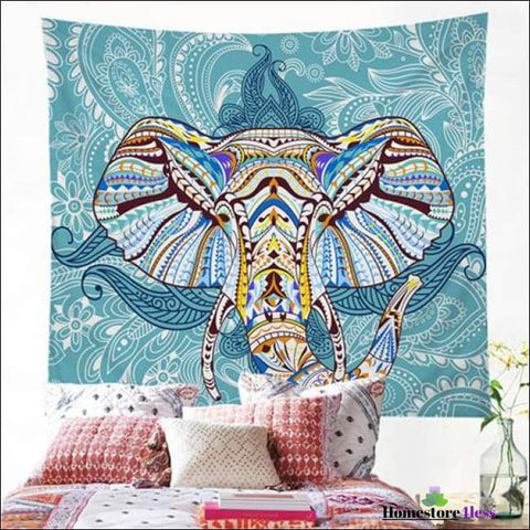 Image of Mandala Elephant Wall Hanging Tapestry - Homestore4less