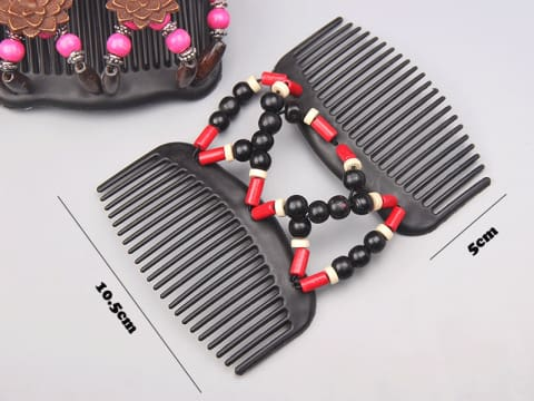 Magic Wooden Beads Hair Comb