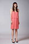 halo KAJO slip dress, coral