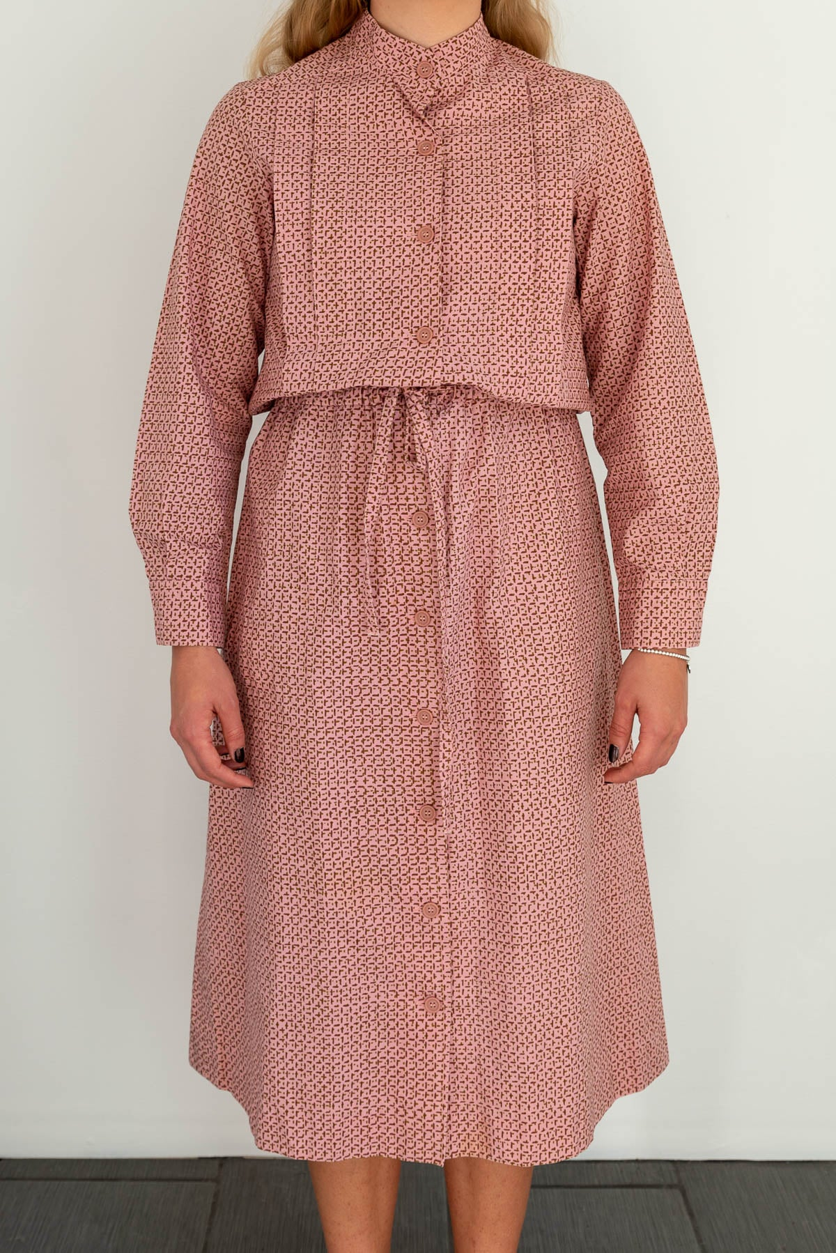 Marimekko pink vintage dress, medium | Finnish Design | Hyvä Helsinki