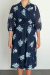 Blue vintage flower dress from Scandinavia size medium