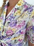 Vintage pastel flower shirt made in Finland