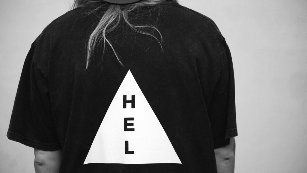 HEL N° 1 | Acid Washed Black Tee | Oversized | 100% Organic Cotton