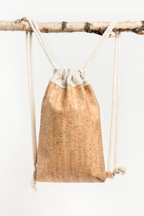 Aarni cork drawstring bag | Sustainable Finnish Design | Hyvä Helsinki