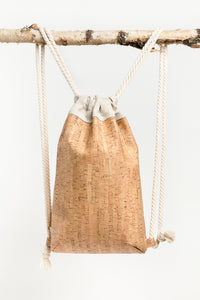 Aarni cork drawstring bag by Katriina Nuutinen | Sustainable Scandinavian Design