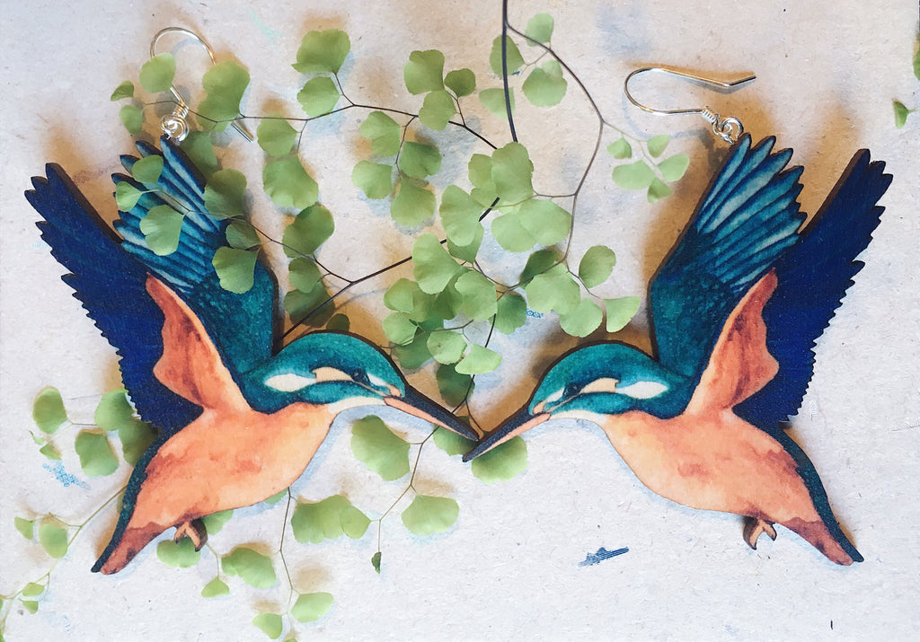 KUNINGASKALASTAJA earrings