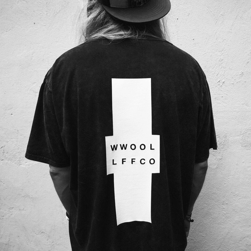 WWOOLLFF Cross | Oversized Acid Washed Tee | 100% Organic | Unisex