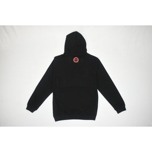 "The ""UNDISPUTED"" Black hoodie with red box logo"