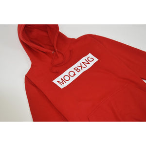 "The ""UNDISPUTED"" Red hoodie with white box logo"