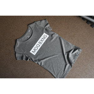 "The ""UNDISPUTED"" ladies Grey T-shirt with White Box logo"