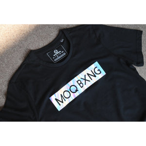 "The ""UNDISPUTED"" Men's Black T-shirt with Hologram Box logo"