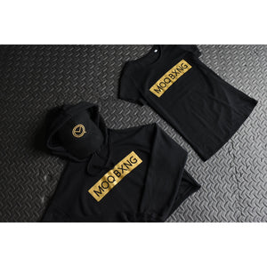"The ""UNDISPUTED"" ladies Black T-shirt with Gold Box logo"