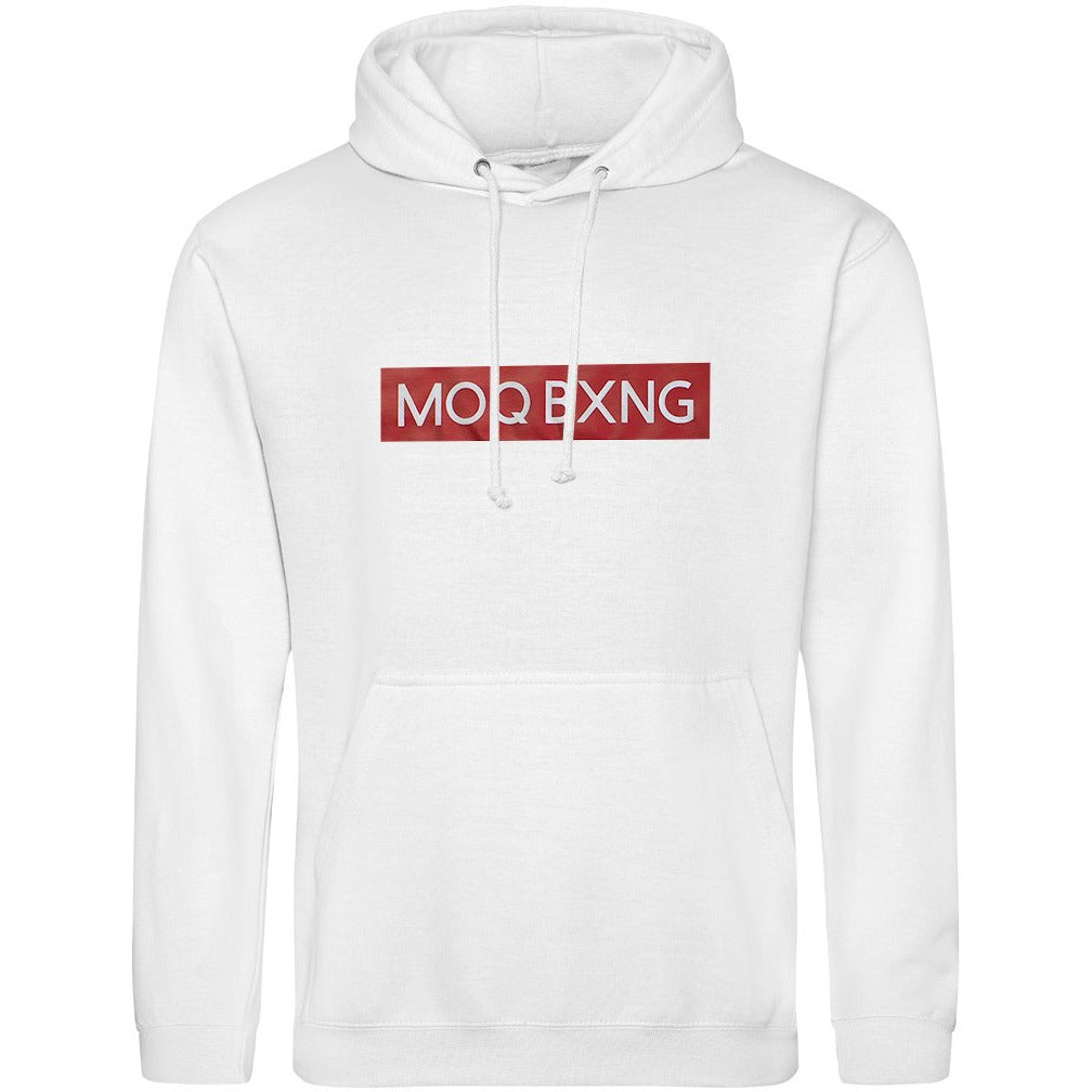 "The ""UNDISPUTED"" White hoodie with red box logo"