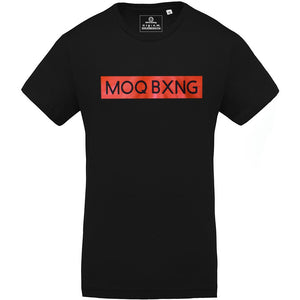 "The ""UNDISPUTED"" Men's Black T-shirt with red Box logo"