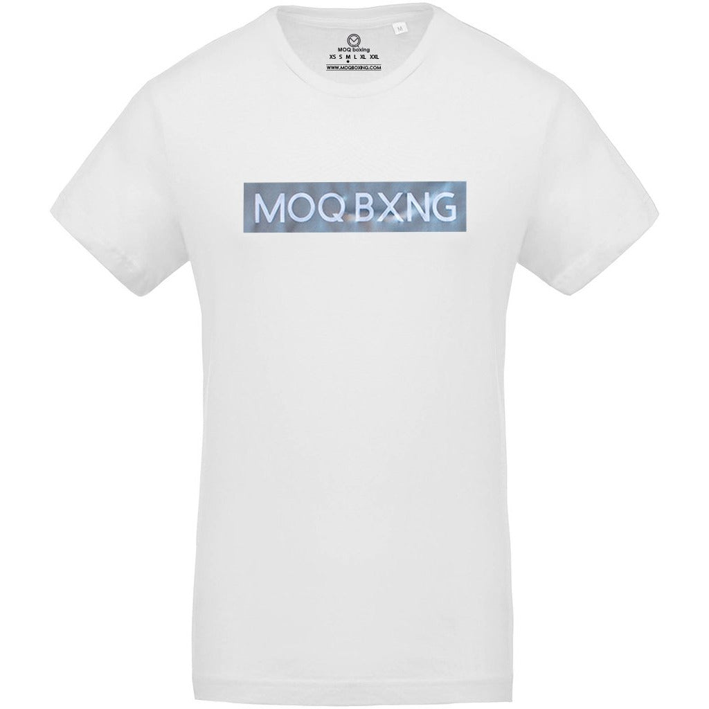 "The ""UNDISPUTED"" Men's White T-shirt with Silver Box logo"