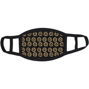 MOQ boxing Gold Pattern Face Mask