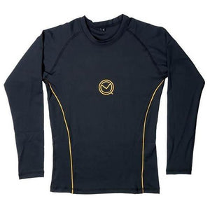 Ladies black and gold boxing Rash guard