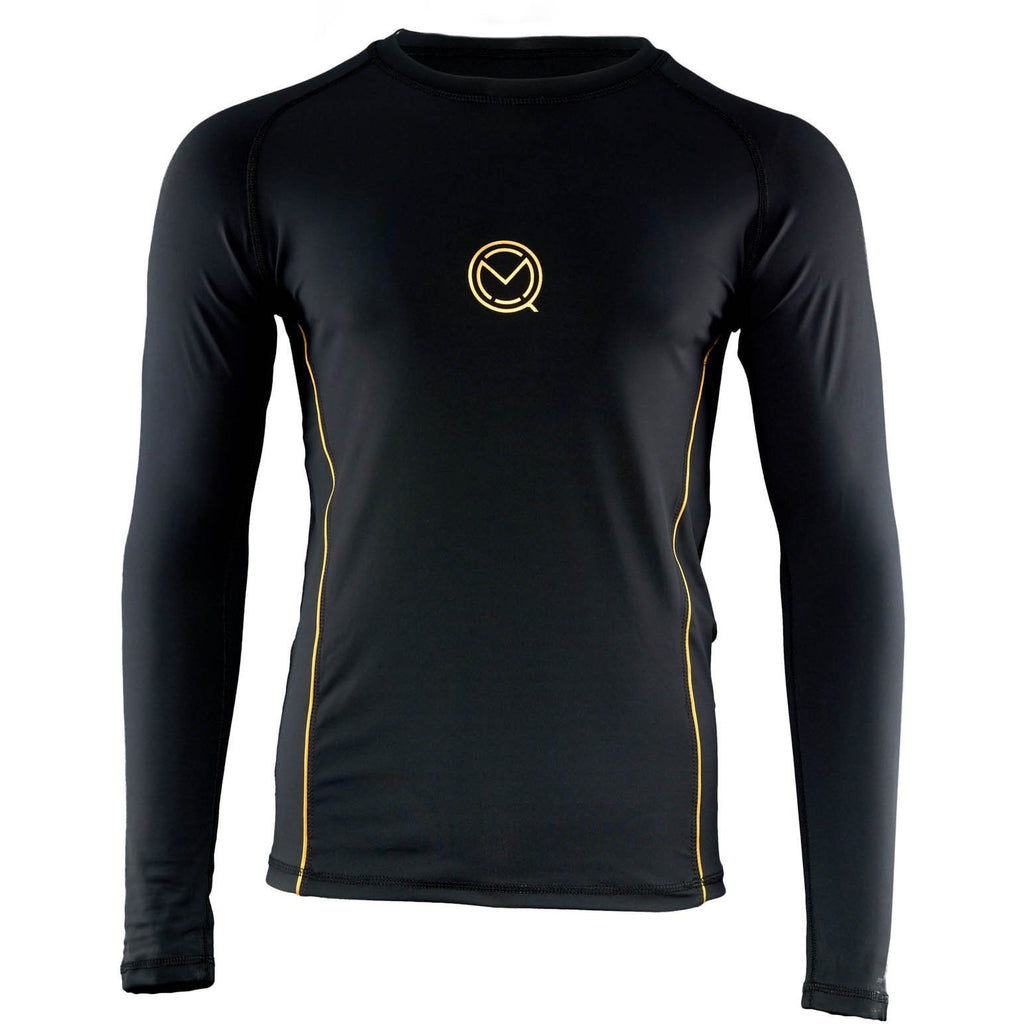 Men's LINEAL black Rash Guard baselayer from MOQ boxing
