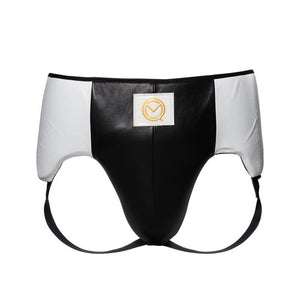MOQ boxing black and white men's Lineal sparring leather boxing groin guard and protector