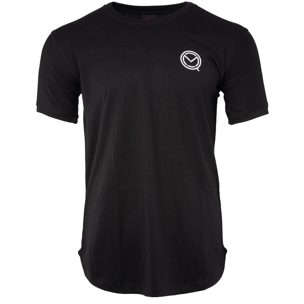 Short Sleeve Essential Black Cotton Tee - MOQ boxing