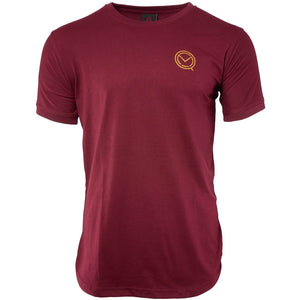 Short Sleeve Essential Burgundy Cotton Tee - MOQ boxing