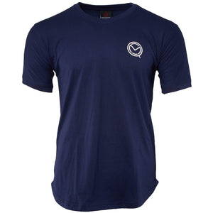 Short Sleeve Essential Navy Blue Cotton Tee - MOQ boxing